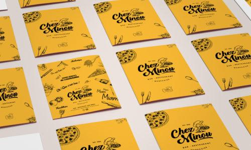Création de logo Pizzeria Chez Minou