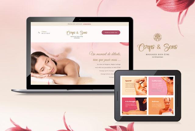 Site internet massage corpsetsens