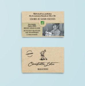 Cartes commerciales Cristel Latu