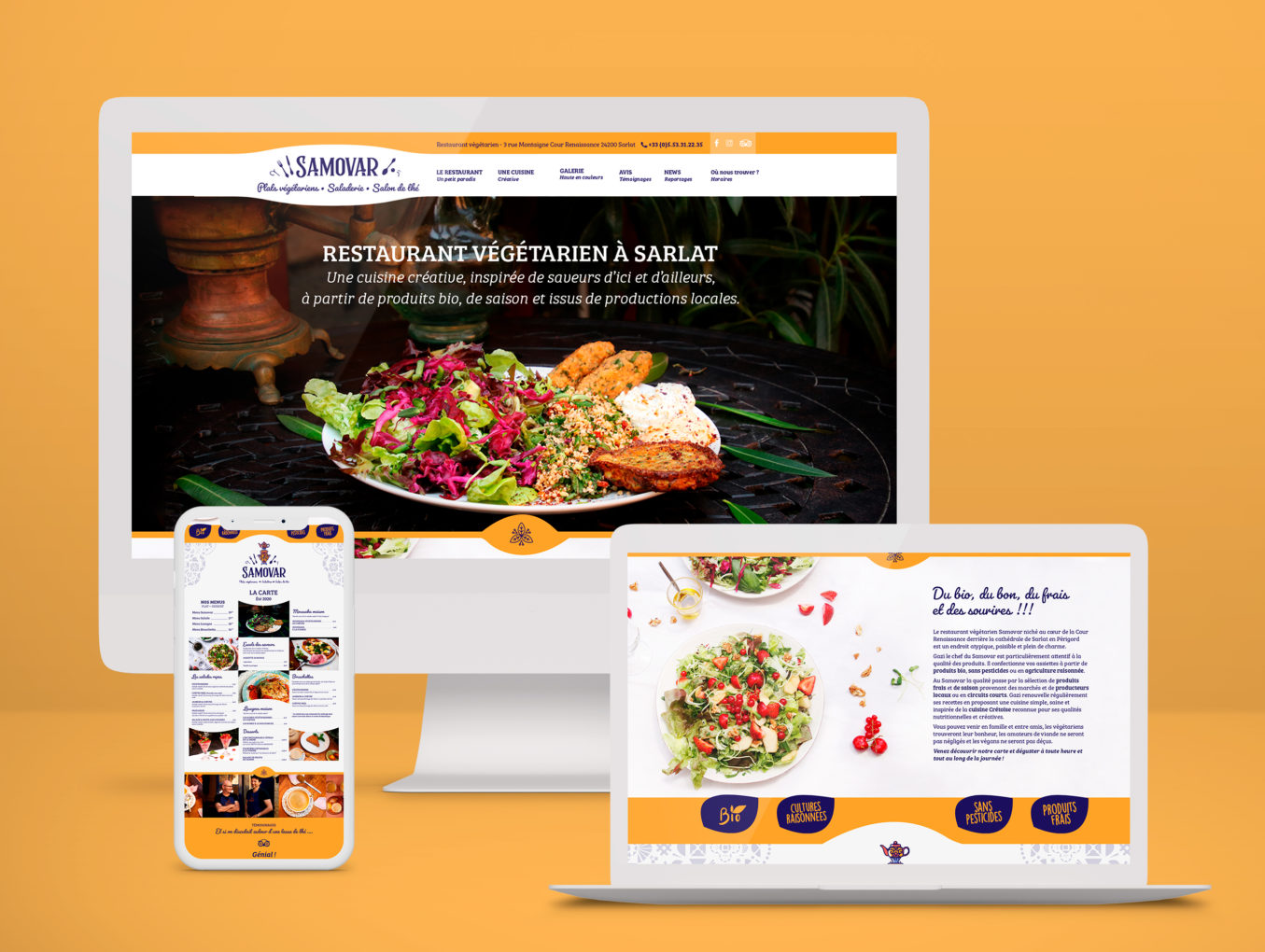 Site internet restaurant Samovar