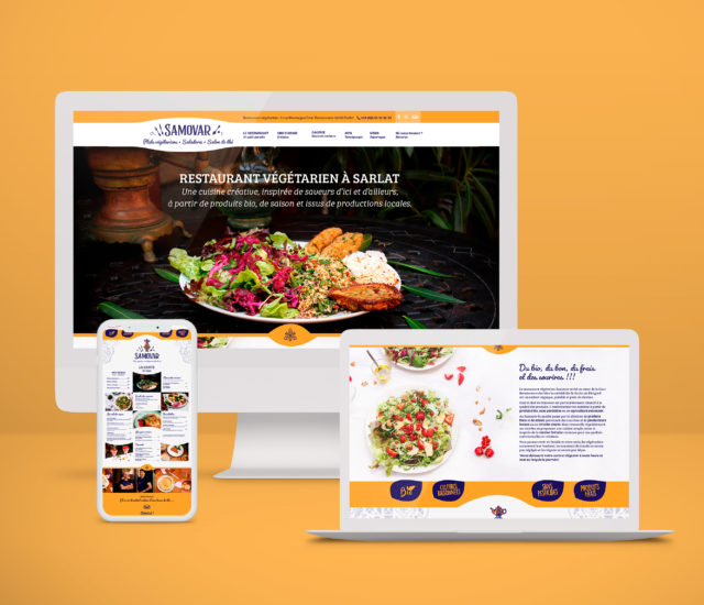 Site internet restaurant Samovar
