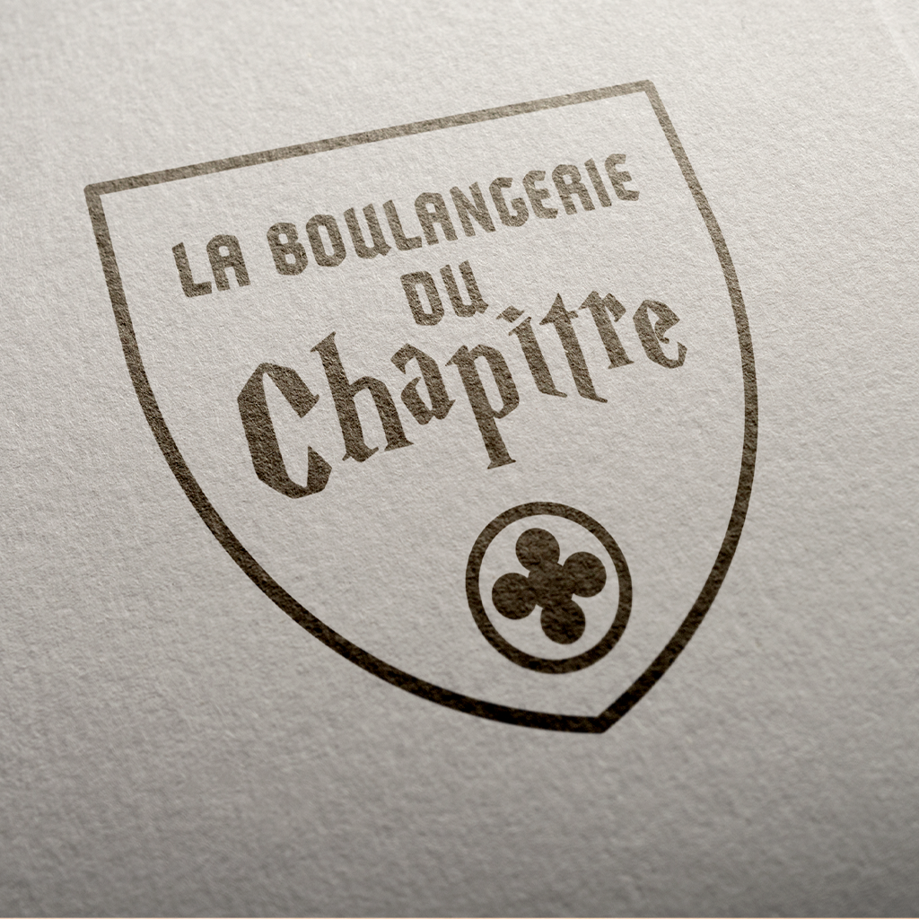 Blason monochrome Boulangerie du Chapître