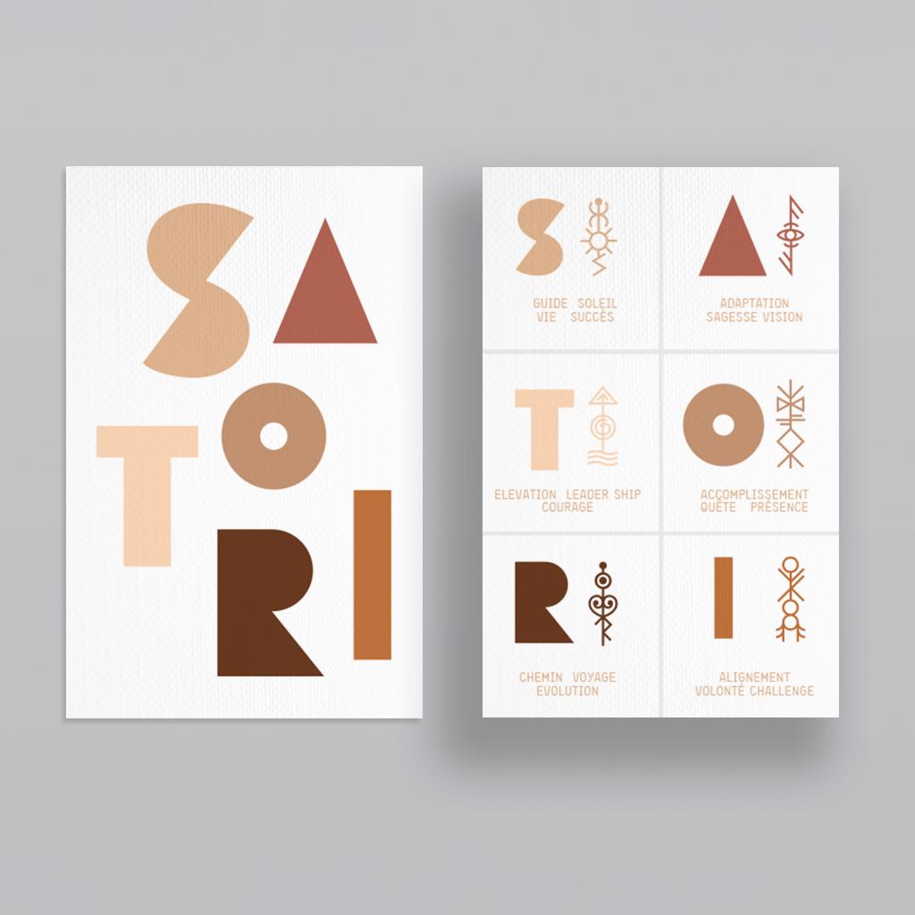 SATORI-CO carte création d'identité graphique